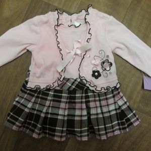 YOUNGLAND NEWBORN 3 TO 6 MONTHS, PINK AND BROWN DR